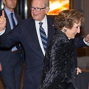 NLD/Amsterdam/20150926 - Afsluiting viering 200 jaar Koninkrijk der Nederlanden, Margriet en partner Mr. Pieter van Vollenhoven