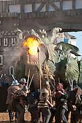 Freilicht-Theater Volksschauspiel Der Drachenstich, Furth im Wald, Bayerischer Wald, Bayern, Deutschland | open air theatre DerDrachenstich, dragon museum, Furth im Wald, Bavarian Forest, Bavaria, Germany