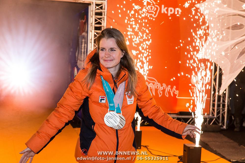 NLD/Amsterdam/20180226 - Thuiskomst TeamNL, Yara Van Kerkhof