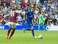 Football - 2017 / 2018 Championship - Cardiff City vs. Aston Villa<br /> <br /> <br /> Joe Bennett of Cardiff Cityon the ball, at Cardiff City Stadium<br /> <br /> COLORSPORT/WINSTON BYNORTH