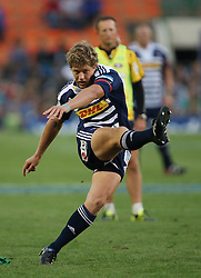 Gary van Aswegen slots the first penalty of the game during the Super Rugby (Super 15) fixture between the DHL Stormers and the Lions held at DHL Newlands Stadium in Cape Town, South Africa on 26 February 2011. Photo by Jacques Rossouw/SPORTZPICS