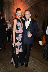 JACQUETTA WHEELER and her husband JAMIE ALLSOPP at Save the Children's spectacular, black tie Winter Gala, a festive fundraising event held at London's Guildhall. Guests were transported into the magical world of the much-celebrated British novelist, Roald Dahl, in celebration of his centenary, for a marvellous evening of fine dining and gloriumtious entertainment to raise money to help transform children's lives across the world and here in the UK.