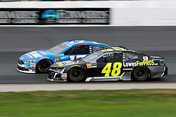 July 22, 2018 - Loudon, NH, U.S. - LOUDON, NH - JULY 22: Jimmie Johnson, Monster Energy NASCAR Cup Series driver of the Lowe's For Pros Chevrolet (48), passes Ricky Stenhouse Jr, Monster Energy NASCAR Cup Series driver of the Fastenal Ford (17), during the Foxwoods Resort Casino 301 on July 22, 2018, at New Hampshire Motor Speedway in Loudon, New Hampshire. (Photo by Fred Kfoury III/Icon Sportswire) (Credit Image: © Fred Kfoury Iii/Icon SMI via ZUMA Press)