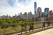 Terrace view of Central Park from 15 Central Park West, 18th floor