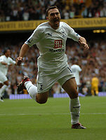 Photo: Tony Oudot.<br /> Tottenham Hotspur v Derby County. The FA Barclays Premiership. 18/08/2007.<br /> Steed Malbranque celebrates his second goal for Tottenham
