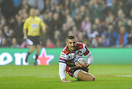 Jonny May scores first try in the European Rugby Challenge Cup match between Gloucester Rugby and Stade Francais at BT Murrayfield, Edinburgh, Scotland on 12 May 2017. Photo by Kevin Murray.