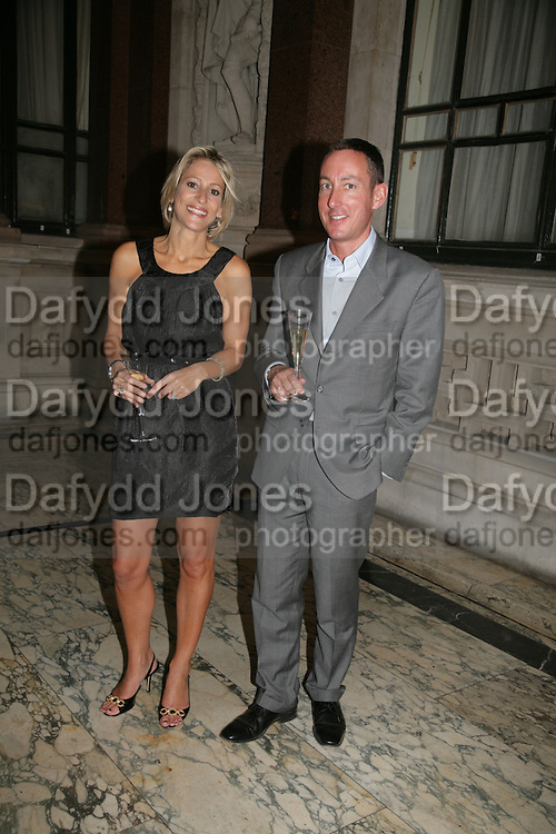 Emily Maitlis and  Simon Page , 10th Anniversary of Conde Nast Traveller magazine. Foreign and Comonwealth Office. Durbar Court. 10 September 2007. -DO NOT ARCHIVE-© Copyright Photograph by Dafydd Jones. 248 Clapham Rd. London SW9 0PZ. Tel 0207 820 0771. www.dafjones.com.