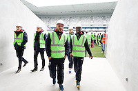 Julien Faubert / Andre Poko - 23.03.2015 - Visite du Stade de Bordeaux -<br /> Photo : Caroline Blumberg / Icon Sport *** Local Caption ***