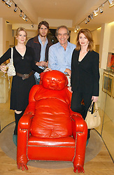 GERALD SCARFE, his wife JANE ASHER with their children ALEX and KATIE at a party to celebrate the publication of Drawing Blood -Forty-Five Years of Scarfe Uncensored, a book of Gerald Scarfe's work held at The Fine Arts Society, New Bond Street, London on 3rd November 2005.<br /><br />NON EXCLUSIVE - WORLD RIGHTS