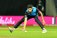 Pat Brown of Worchestershire fields the ball during the final of the Vitality T20 Finals Day 2018 match between Worcestershire Rapids and Sussex Sharks at Edgbaston, Birmingham, United Kingdom on 15 September 2018.