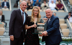 May 30, 2019 - Paris, FRANCE - Lucie Safarova of the Czech Republic at her retirement ceremony at the 2019 Roland Garros Grand Slam tennis tournament (Credit Image: © AFP7 via ZUMA Wire)