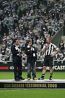 Photo: Andrew Unwin.<br /> Newcastle United v Glasgow Celtic. Alan Shearer Testimonial. 11/05/2006.<br /> Newcastle's Alan Shearer (R).