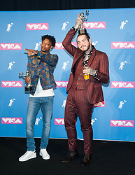 August 21, 2018 - New York City, New York, USA - 8/20/18.21 Savage and Post Malone at the 2018 MTV Video Music Awards at Radio City Music Hall in New York City. (Credit Image: © Starmax/Newscom via ZUMA Press)