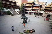 Jing'an Temple courtyard , Shanghai, China