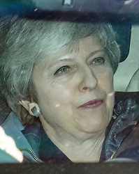 © Licensed to London News Pictures. 11/04/2019. London, UK.Prime Minister THERESA MAY is seen leaving Parliament following a statement . The British PM was last night granted an extension to the date the UK will leave the EU, until October 31st of this year. Photo credit: Ben Cawthra/LNP