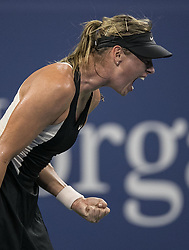 August 28, 2018 - Flushing Meadows, New York, U.S - Maria Sharapova during her match against Patty Schnyder on Day 2 of the 2018 US Open at USTA Billie Jean King National Tennis Center on Tuesday August 28, 2018 in the Flushing neighborhood of the Queens borough of New York City. Sharapova defeats Schnyder , 6-2, 7-6  (Credit Image: © Prensa Internacional via ZUMA Wire)