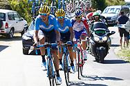 Marc Soler (ESP - Movistar), Alejandro Valverde (ESP - Movistar) during the 105th Tour de France 2018, Stage 11, Alberville - La Rosiere Espace Bernardo (108,5 km) on July 18th, 2018 - Photo Luca Bettini / BettiniPhoto / ProSportsImages / DPPI