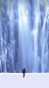 Image of Waimoku Falls along the Pipiwai Trail along the Road to Hana, Maui, Hawaii, Hawaiian Islands by Randy Wells