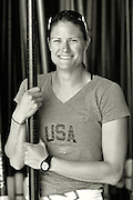 """San Diego, California. USA.  USA Double Olympian Gold Medalist,  Zsuzsanna """"Susan"""" FRANCIA, in  her role as  Women's Varsity coach at the San Diego Rowing Club. Mission Bay.  15:56:11.  Thursday  11/04/2013   [Mandatory Credit. Peter Spurrier/Intersport Images] .."""