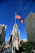 Image of North Michigan Avenue along Magnificent Mile in Chicago, Illinois, American Midwest by Andrea Wells