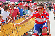 Start, fans, Rudy Molard (FRA - Groupama - FDJ) Red jersey, during the UCI World Tour, Tour of Spain (Vuelta) 2018, Stage 6, Huercal Overa - San Javier Mar Menor 155,7 km in Spain, on August 30th, 2018 - Photo Luis Angel Gomez / BettiniPhoto / ProSportsImages / DPPI