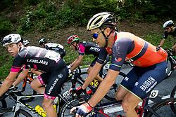 Matic Groselj (SLO) of Rog - Ljubljana, Borut Bozic (SLO) of Bahrain-Merida during Stage 3 of 24th Tour of Slovenia 2017 / Tour de Slovenie from Celje to Rogla (167,7 km) cycling race on June 16, 2017 in Slovenia. Photo by Vid Ponikvar / Sportida