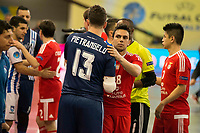 Benfica's players and Pescara's players during UEFA Futsal Cup 2015/2016 3º/4º place match. April 22,2016. (ALTERPHOTOS/Acero)