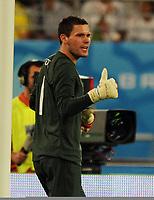 Khalifa Stadium Doha Brazil v England (1-0)  14/11/2009<br /> Ben Foster  (England)  <br /> Photo Roger Parker Fotosports International