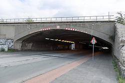 04.09.2015, Karl-Lehr-Strasse, Duisburg, GER, Gedenkstaette Loveparade Duisburg, im Bild Tunnel zum Veranstaltungsgelaende in der Karl-Lehr-Strasse // The Loveparade memorial Karl-Lehr-Strasse in Duisburg, Germany on 2015/09/04. EXPA Pictures © 2015, PhotoCredit: EXPA/ Eibner-Pressefoto/ Hommes<br /> <br /> *****ATTENTION - OUT of GER*****