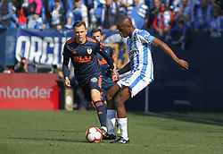 February 24, 2019 - Leganes, Madrid, Spain - Gameiro of Valencia and Nyom og Leganes in action during La Liga Spanish championship, football match between Leganes and Valencia, February 24th, Butarque stadium, in Leganes, Madrid, Spain. (Credit Image: © AFP7 via ZUMA Wire)