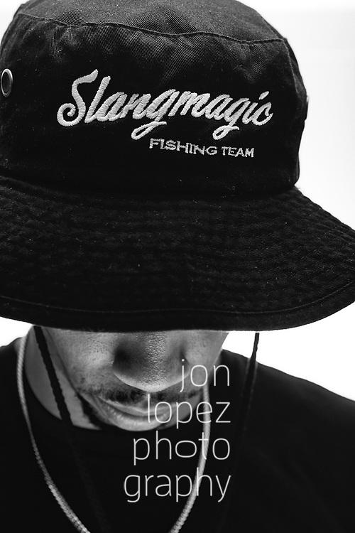 NEW YORK, NY- Sunday, April 14, 2019: Slangmagic Fishing 2019 collection photo shoot in lower Manhattan New York, NY. <br /> NOTE TO USER: Mandatory Copyright Notice: Photo by Jon Lopez / Jon Lopez Creative