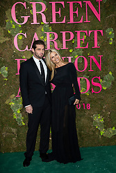 Tomaso Trussardi, Michelle Hunziker attends the Green Carpet Fashion Awards Gala during Milan Fashion Week Spring/Summer 2019 on September 23, 2018 in Milan, Italy. Photo by Marco Piovanotto/ABACAPRESS.COM
