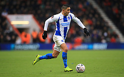"""Brighton & Hove Albion's Anthony Knockaert during the Emirates FA Cup, third round match at the Vitality Stadium, Bournemouth. PRESS ASSOCIATION Photo. Picture date: Saturday January 5, 2019. See PA story SOCCER Bournemouth. Photo credit should read: Mark Kerton/PA Wire. RESTRICTIONS: EDITORIAL USE ONLY No use with unauthorised audio, video, data, fixture lists, club/league logos or """"live"""" services. Online in-match use limited to 120 images, no video emulation. No use in betting, games or single club/league/player publications."""