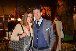 Frederico & Lavinia Bianchi at the 2017 PAD Collector's Preview, Berkeley Square, London, England. 02 October 2017.
