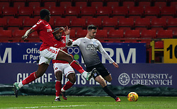 Andrew Hughes of Peterborough United crosses the ball against Charlton Athletic - Mandatory by-line: Joe Dent/JMP - 28/11/2017 - FOOTBALL - The Valley - Charlton, London, England - Charlton Athletic v Peterborough United - Sky Bet League One