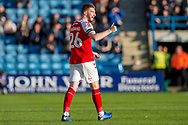 Fleetwood Town defender James Husband  (26) during the EFL Sky Bet League 1 match between Gillingham and Fleetwood Town at the MEMS Priestfield Stadium, Gillingham, England on 3 November 2018.<br /> Photo Martin Cole