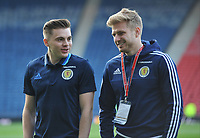 Football - 2016 / 2017 World Cup Qualifier - UEFA Group F: Scotland vs. Slovenia<br /> <br /> James Forrest and Stuart Armstrong of Scotland before the match at Hampden Park.<br /> <br /> COLORSPORT
