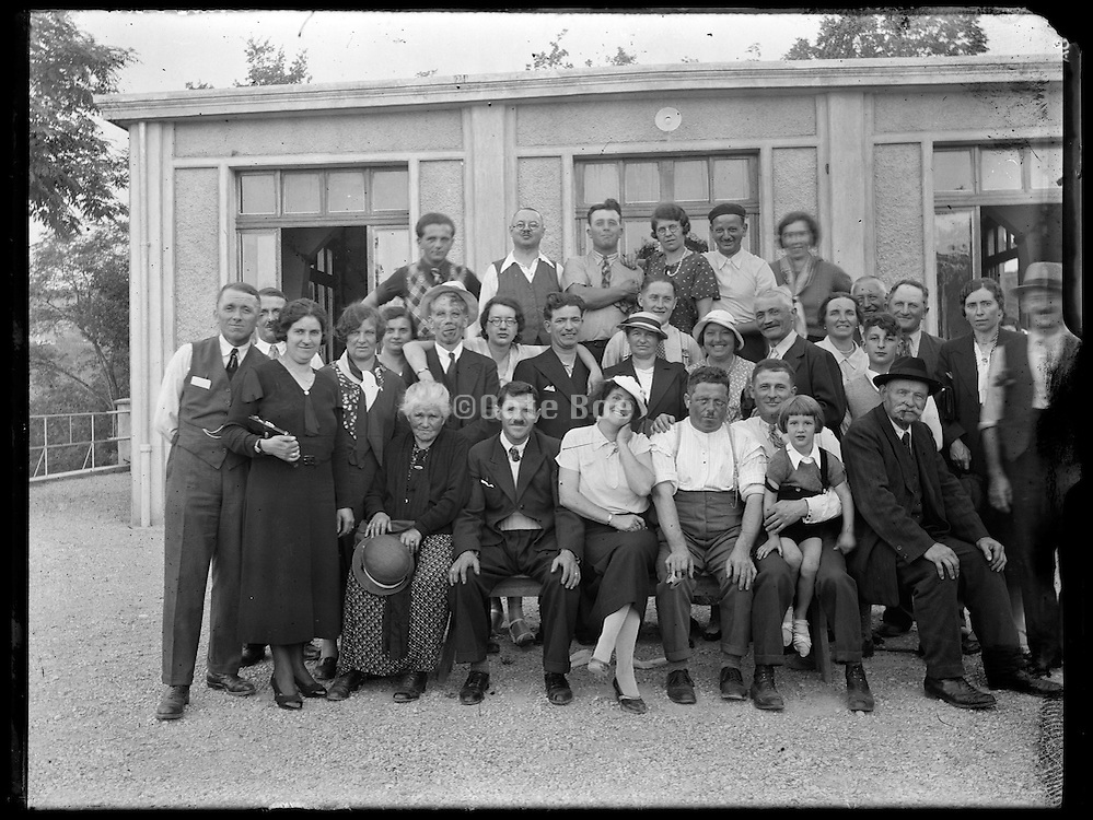 village community gathering  around 1930s France