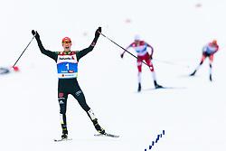 February 22, 2019 - Seefeld In Tirol, AUSTRIA - 190222 Eric Frenzel of Germany celebrates when winning in men's nordic combined 10 km Individual Gundersen during the FIS Nordic World Ski Championships on February 22, 2019 in Seefeld in Tirol..Photo: Joel Marklund / BILDBYRÃ…N / kod JM / 87882 (Credit Image: © Joel Marklund/Bildbyran via ZUMA Press)