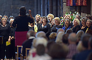 Edinburgh International Festival 2016<br /> <br /> The Edinburgh International Festival presents Songlines, a free participatory event celebrating the joy of singing. Songlines follows the success of the 2015 International Festival community event for brass bands, Fanfare<br /> <br /> St Mary's Church, Haddington.<br /> <br />  4 choirs performed at St Mary's, however of these 4 choirs, 3 sang together, and then 1 on its own during the performance, before all coming together for the finale.<br /> <br /> The 3 choirs were  Loud & Proud, North Berwick Sings and Dunbar Sings (round 70 people)<br /> <br /> And the lone choir was Consort of Voices (16 people)<br />  with Soloist,  Amy Strachan and Accompanist,  Stuart Hope.<br /> <br /> <br /> <br />  Neil Hanna Photography<br /> www.neilhannaphotography.co.uk<br /> 07702 246823