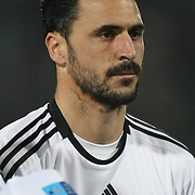 Besiktas's Hugo Almedia during their Turkish superleague soccer derby match Trabzonspor between Besiktas at the Avni Aker Stadium in Trabzon Turkey on Sunday, 27 November 2011. Photo by TURKPIX