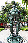 Wallace Fountain in the Jardim do Sao Francisco or Sao Francisco Garden in Macau.