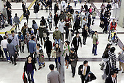 overhead view of crowd Japan