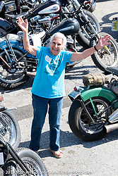 Harley riding nonagenarian Gloria Struck at the Chopper Time annual old school chopper show at Willie's Tropical Tattoo in Ormond Beach during Daytona Beach Bike Week, FL. USA. Thursday, March 14, 2019. Photography ©2019 Michael Lichter.