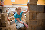 United Kingdom. Norfolk. Norwich. City College. Key Skills Numeracy in Construction/Brick Laying..Photo©Steve Forrest/Workers Photos