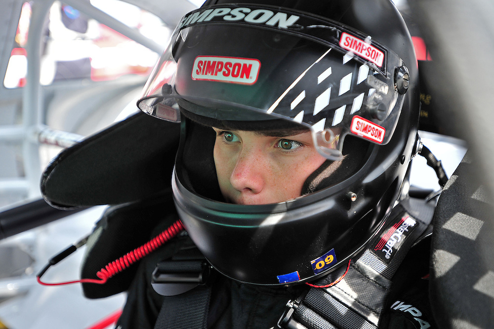 JEFFERSON, GA - JUNE 9, 2012: Brett Moffitt, driver of the #11 Toyota during practice for the NASCAR K&N Pro Series East Slack Auto Parts 150 held at Gresham Motorsports Park in Jeffereson, GA on June 9, 2012. Photo by Kevin Liles/kevindliles.com