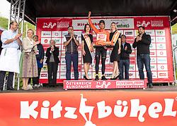 12.07.2019, Kitzbühel, AUT, Ö-Tour, Österreich Radrundfahrt, 6. Etappe, von Kitzbühel nach Kitzbüheler Horn (116,7 km), im Bild Riccardo Zoidl (AUT, CCC Team) im Gebrüder Weiss Trikot, Sieger der Wertung des besten Österreichers // Riccardo Zoidl of Austria (CCC Team) wearing the Gebrüder Weiss jersey of the best Austrian rider during 6th stage from Kitzbühel to Kitzbüheler Horn (116,7 km) of the 2019 Tour of Austria. Kitzbühel, Austria on 2019/07/12. EXPA Pictures © 2019, PhotoCredit: EXPA/ Reinhard Eisenbauer