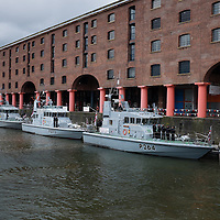 LIVERPOOL, UK, 23rd May, 2013. Royal Navy P2000 vessels arrive in the Albert Dock, Liverpool, UK, as part of the Battle of the Atlantic 70th anniversary celebration weekend. A fleet of 21  Royal Naval vessels will visit over the weekend.
