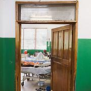 INDIVIDUAL(S) PHOTOGRAPHED: N/A. LOCATION: Sacré-Cœur Hospital, Milot Commune, Cap-Haïtien, Haïti. CAPTION: A view of a room in the Women's General Medicine Department at the Sacré-Coeur Hospital in Milot.
