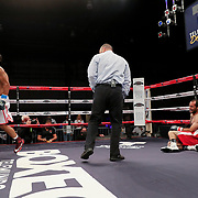 KISSIMMEE, FL - MARCH 05: Floyd Schofield celebrates after a first round knockout of Jonathan Conde during the Boxeo Telemundo All Star Boxing event at Osceola Heritage Park on March 5, 2021 in Kissimmee, Florida. (Photo by Alex Menendez/Getty Images) *** Local Caption *** Floyd Schofield; Jonathan Conde